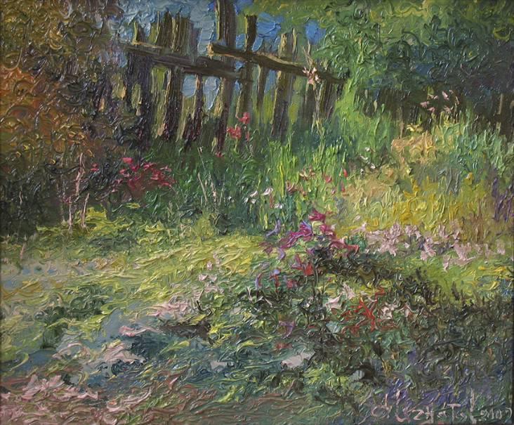 Заброшенный сад   х.м.   30х35   2009 г.