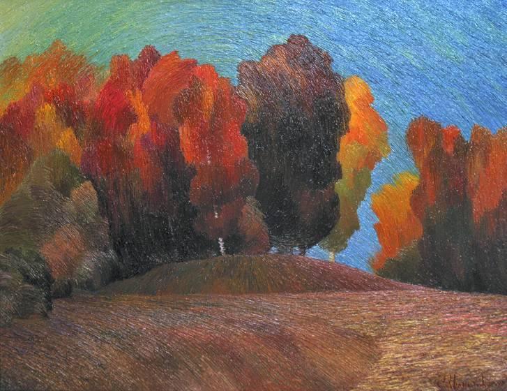 Осень красная    х.м.   70х85   2009 г.