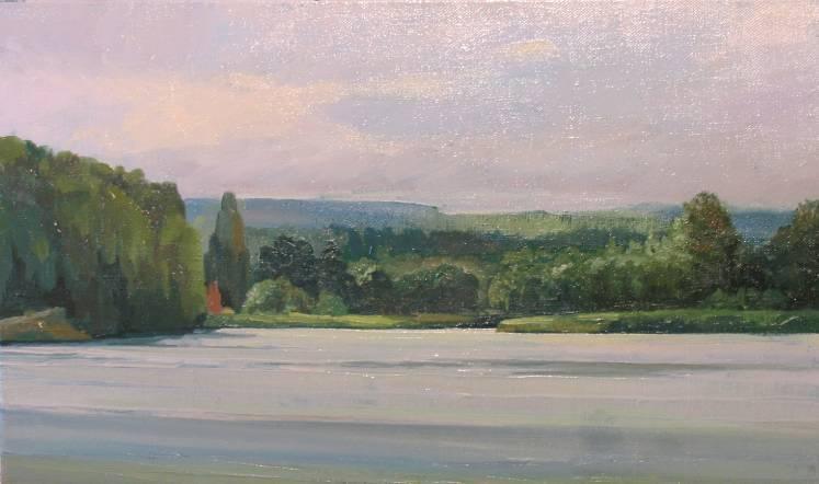 Утро на реке Колпь   х.м.   25х45   2008 г.
