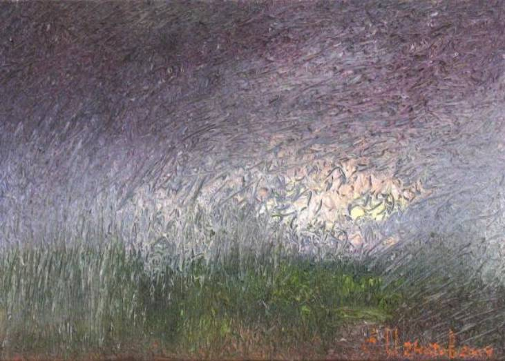 Изморозь   х.м.   25х35   2009 г.