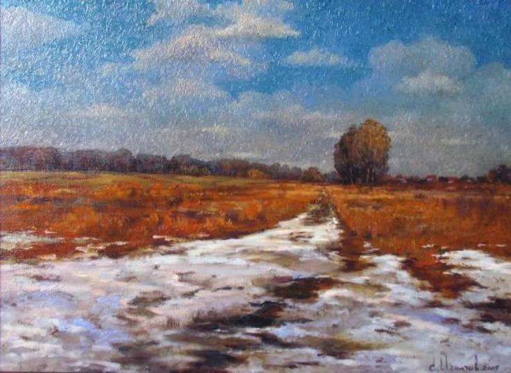 Холодный апрель    х.м.   45х60   2009 г.