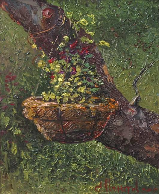 Цветение гнезда    к.х.м.   30х25   2009 г.