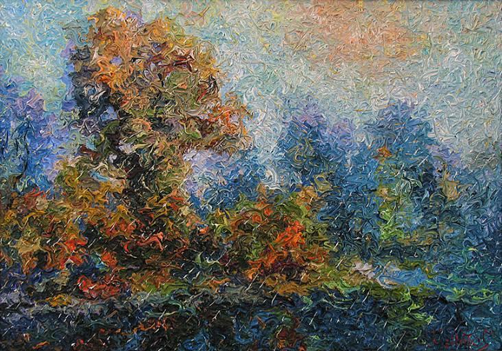 Осеннее утро   х.м.   50х70   2011 г.