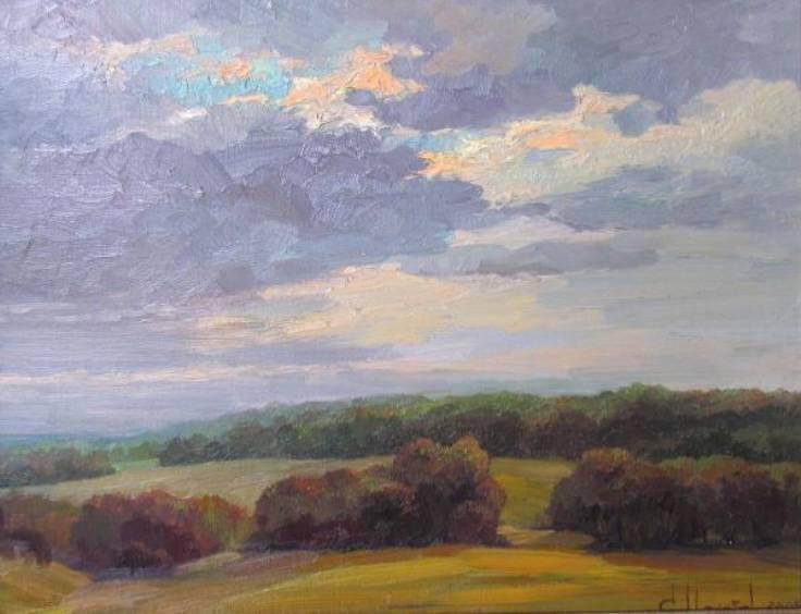 Вечернее небо    к.х.м.   40х50   2009 г.