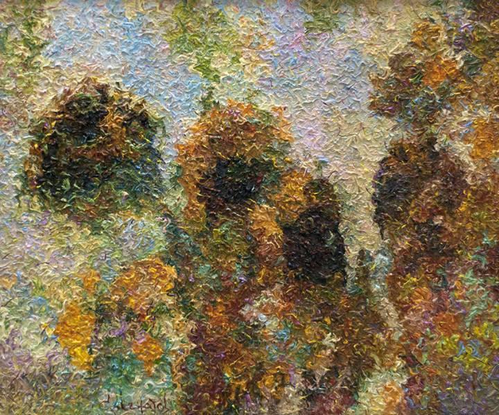 Освещённые солнцем    х.м.   80х90   2012 г.
