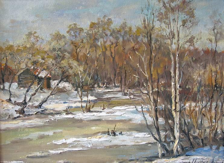 Река Лунёвка  к.х.м.   30х40   2006 г.