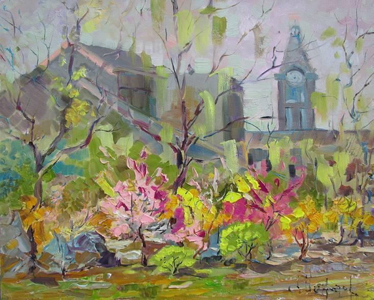 Весна в Даляне    х.м.   40х50   2015 г.