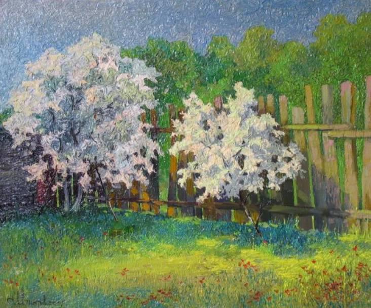 Весенний цвет    х.м.   50х60   2009 г.