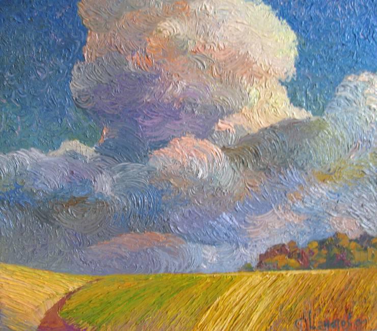 Облако и поле  к.х.м.   35х40   2009 г.
