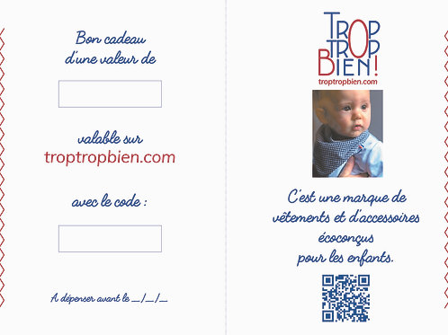 Carte cadeau virtuelle 50€