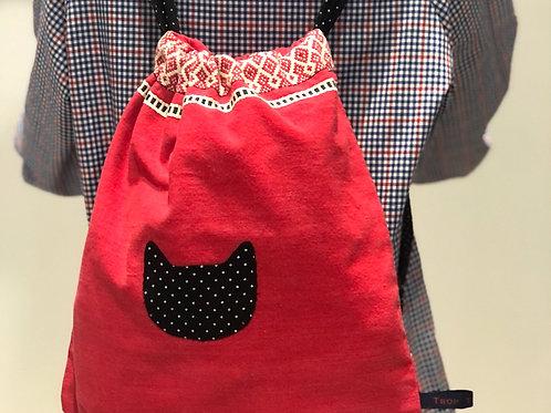 Le sac à tout petit chat - Rouge