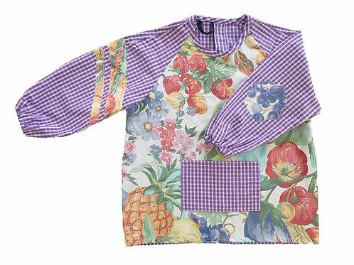La blouse d'écolier fleurie - Violet
