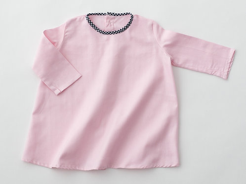 Robe rose col bleu - 6 mois