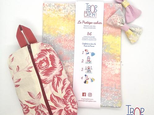 Pack Protège-cahier + Trousse + Pinces