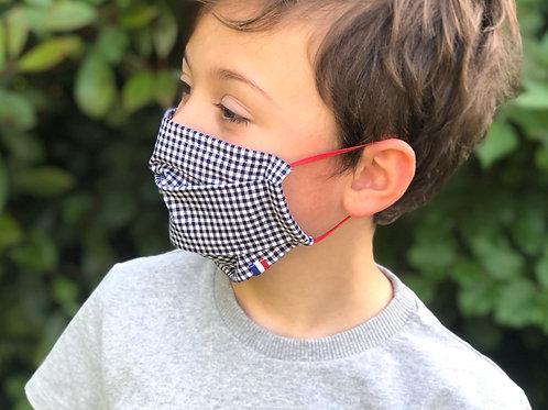 Le masque alternatif Vichy Bleu marine