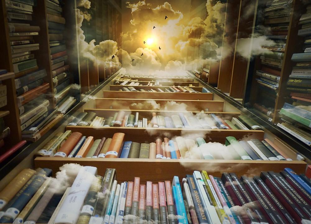 Böcker bibliotek berättelser magi