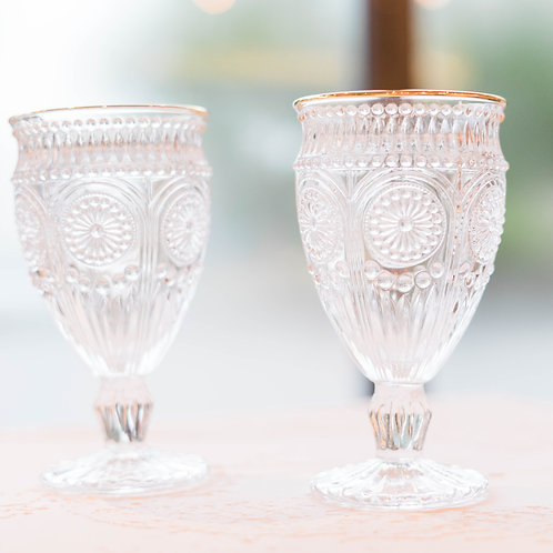 Crystal Glass with Embossed Pattern
