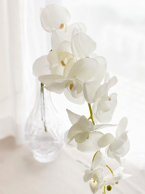 White Orchid - Silk flower