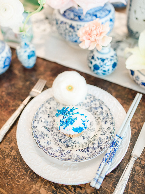 Blue and White Porcelain Charger Set