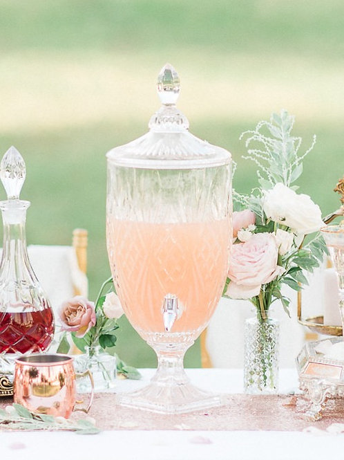 Pressed Glass Jar