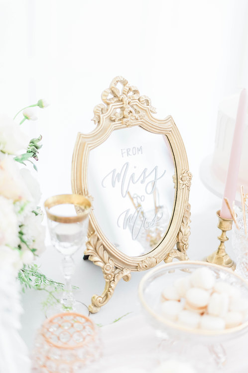 Vintage Style Mirror - Table Stand