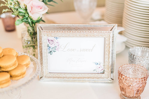 Vintage Style Photo Frame with mirror surface