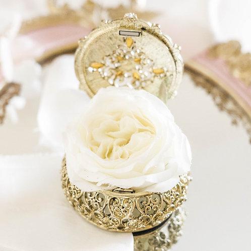 Delicate Gold Colour Ring Box