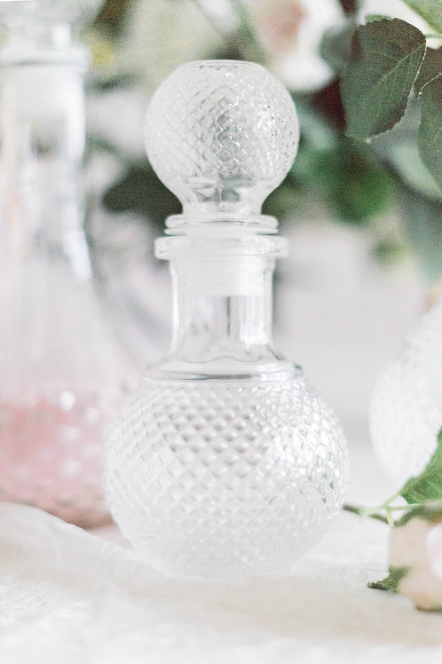 Round Vintage Glass Bottle