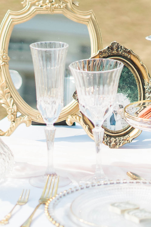 Vintage Crystal Champagne & Wine Glass