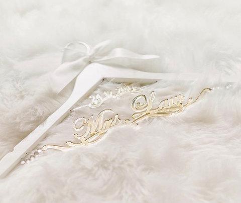 Bespoke Wedding Hanger - Bride