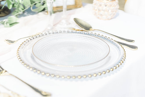 Round Dish with Gold Linging