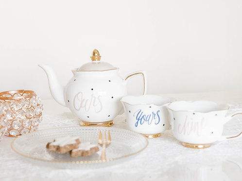 """Ours"" Tea Cup and Saucer Set"
