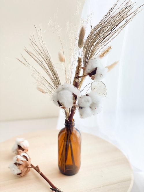 Earth tone dry flower
