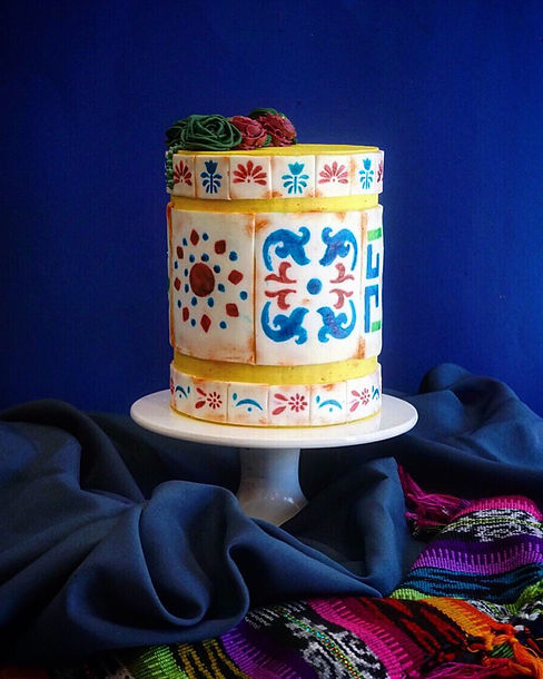 Mexican Talavera Cake