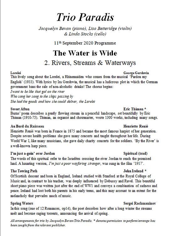 11th September Rivers, Streams & Waterwa