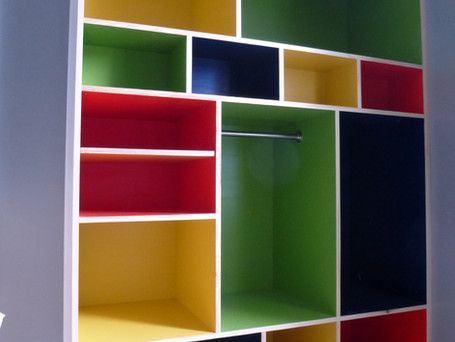 Painted storage unit