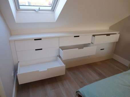 Bank of softclose drawers