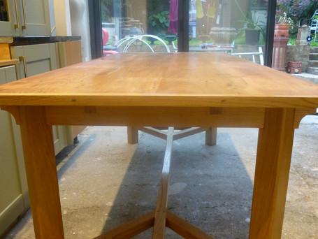 Oak hayrake table