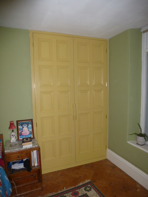 Panelled cupboard doors