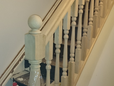 Oak handrail install