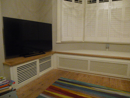 Tv unit and window seat