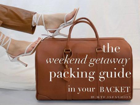 ¿Cómo empacar para un fin de semana? By WTF IS FASHION