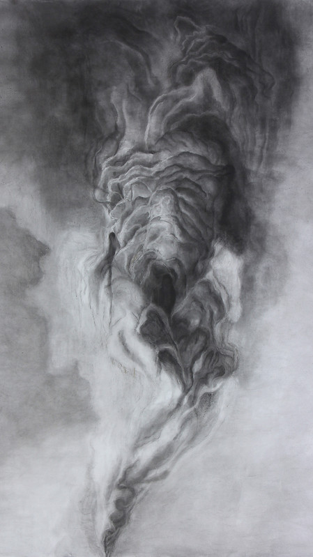 Charcoal on paper 290 X 200 CM