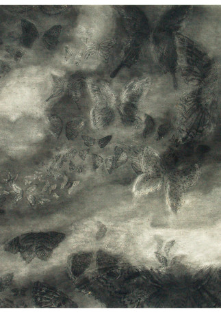 170X120 cm  charcoal on paper