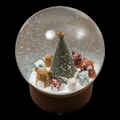Fabelab Snehová guľa Vianoce lesných zvieratiek