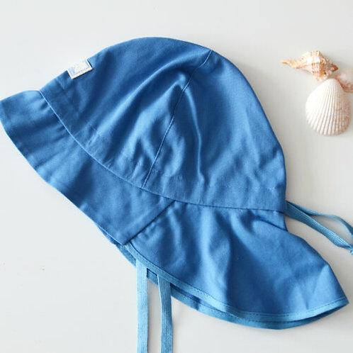 Predĺžený klobúk PickaPooh jeans modrý UV ochranou 60