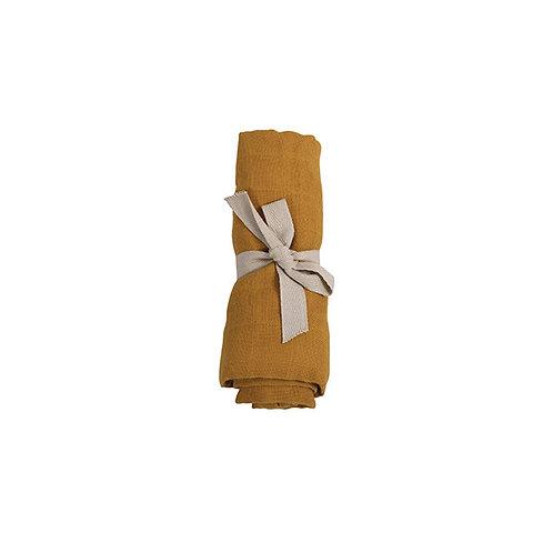 Mušelínová plienka z organickej bavlny Filibabba zlato-horčicová