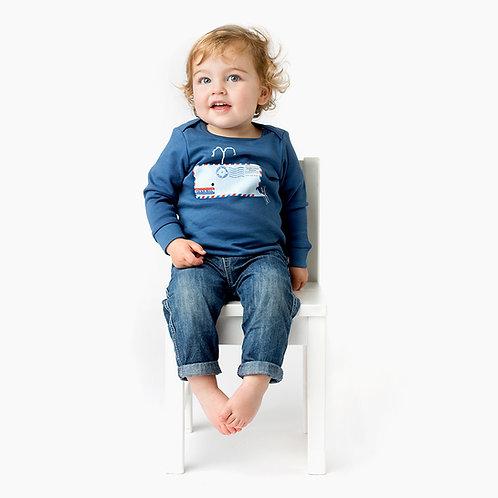 Tričko veľryba + hračka z organickej bavlny ZDARMA
