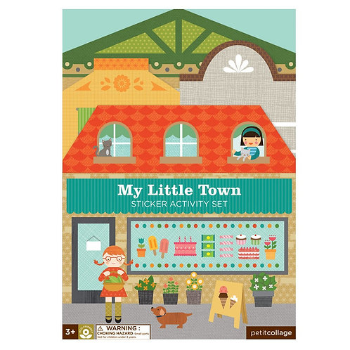 PetitCollage kreatívne samolepky Moje malé mesto