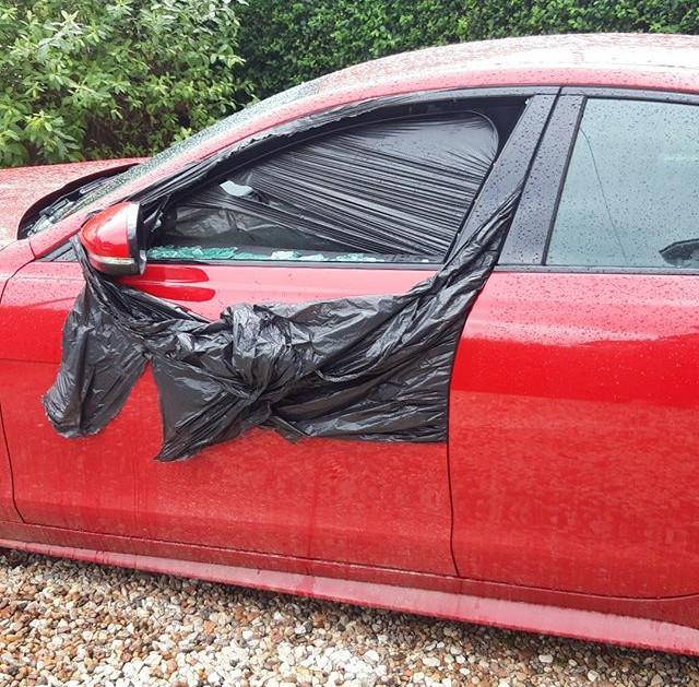Jaguar XE door glass #toughcarglass.jpg